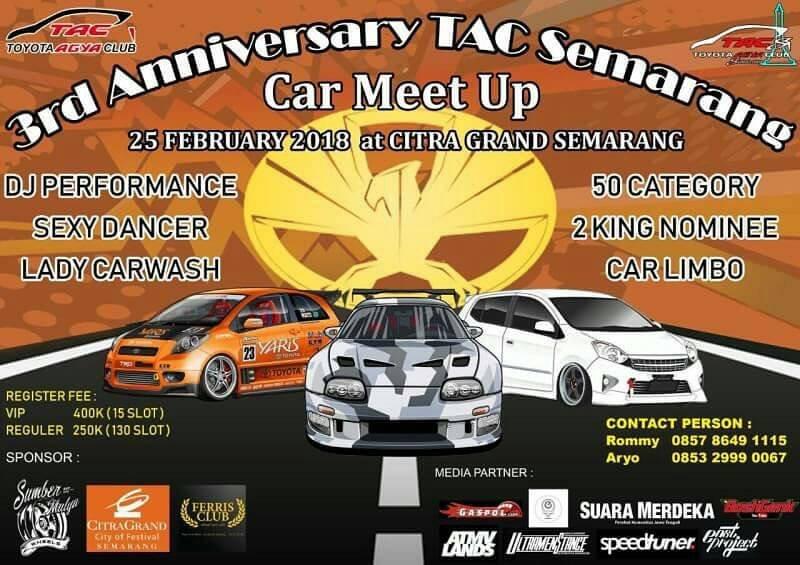 EVENT 3RD ANIVERSARY TOYOTA AGYA CLUB SEMARANG CAR MEET UP