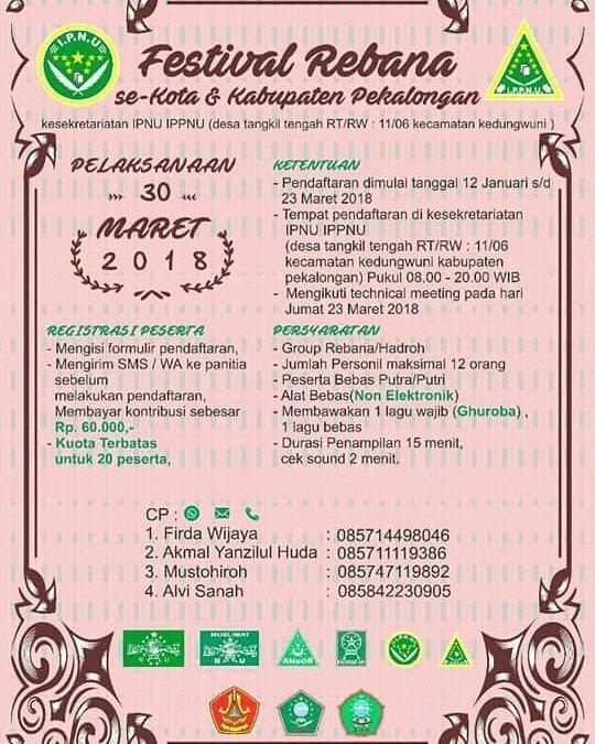 Event Festival Rebana Se-kota & Kabupaten Pekalongan