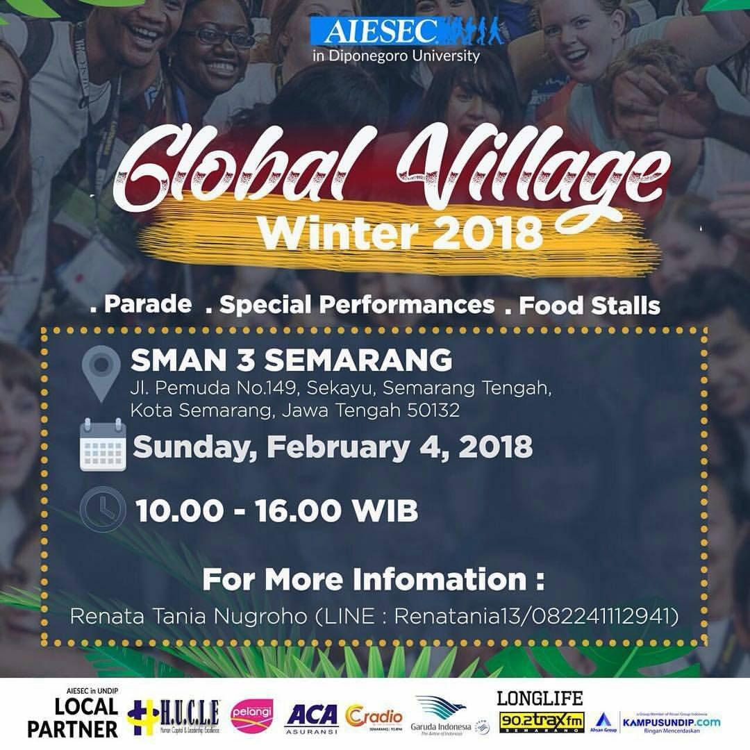 EVENT GLOBAL VILLAGE WINTER 2018 DI SEMARANG