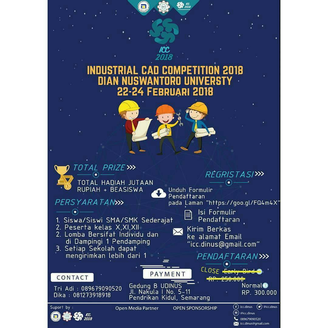 EVENT INDUSTRIAL CAD COMPETITION 2018 DI SEMARANG