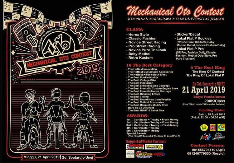 Event Jember - Aksi Mesin Unej Present Mechanical Oto Contest 2019