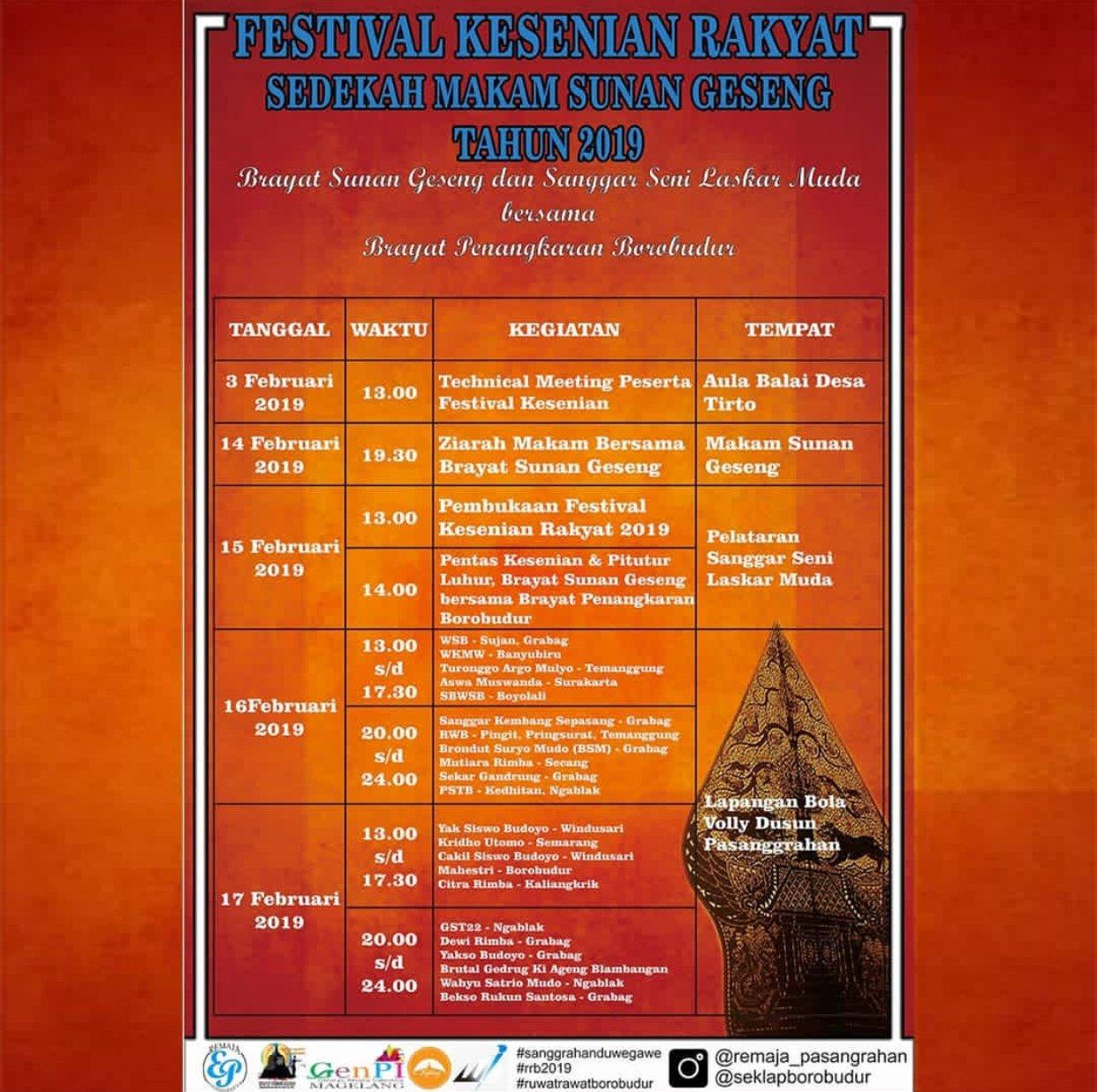 EVENT MAGELANG - FESTIVAL KESENIAN RAKYAT SEDEKAH MAKAM SUNAN GESENG 2019