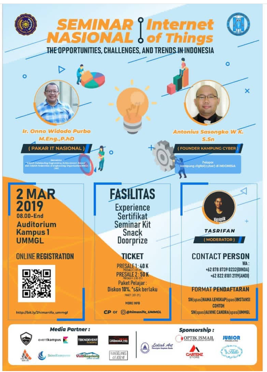 Event Magelang - Seminar Nasional Internet Of Thing Um 2019