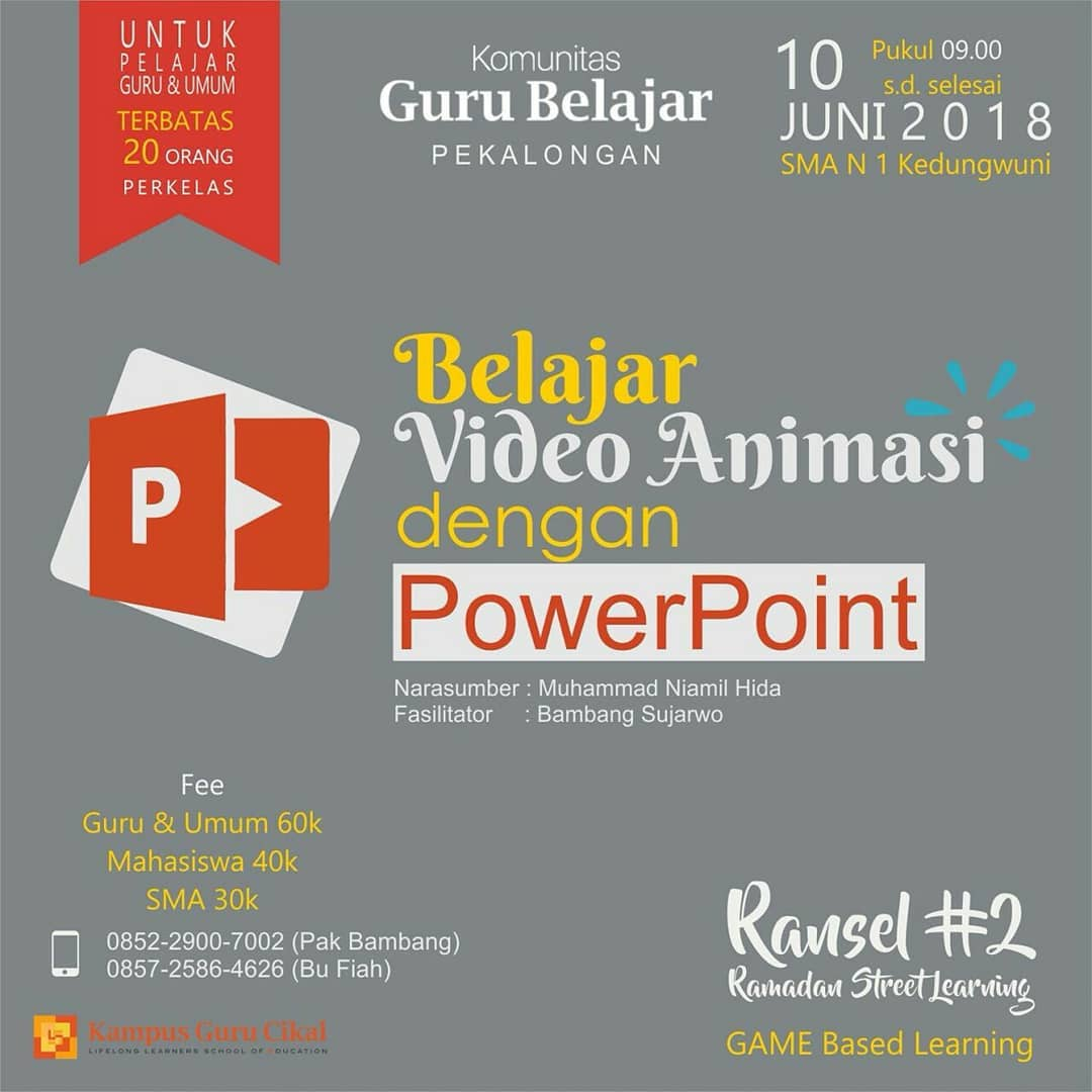 EVENT PEKALONGAN - BELAJAR VIDEO ANIMASI DENGAN POWER POINT