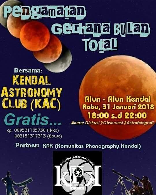 EVENT PENGAMATAN GERHANA BULAN TOTAL DI KENDAL