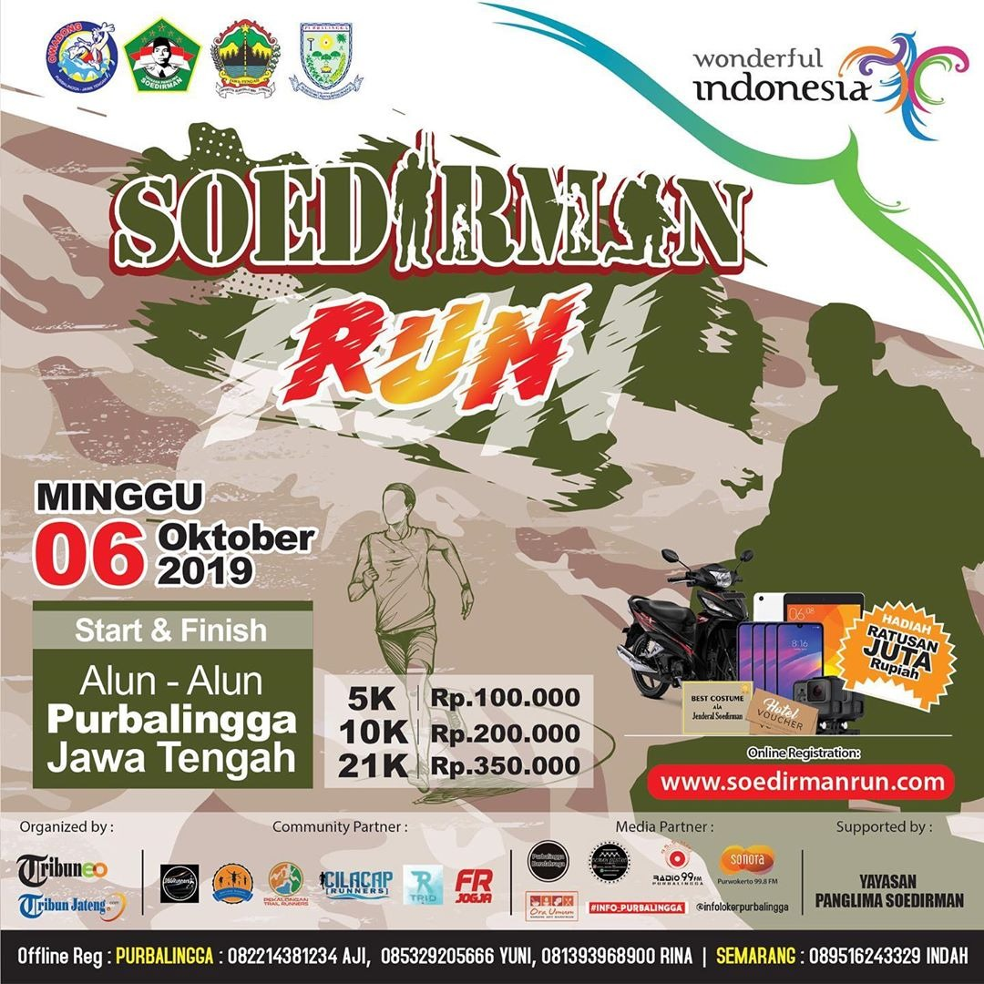 Event Purbalingga :  Soedirman Run (sudirman Run 2019 Purbalingga)