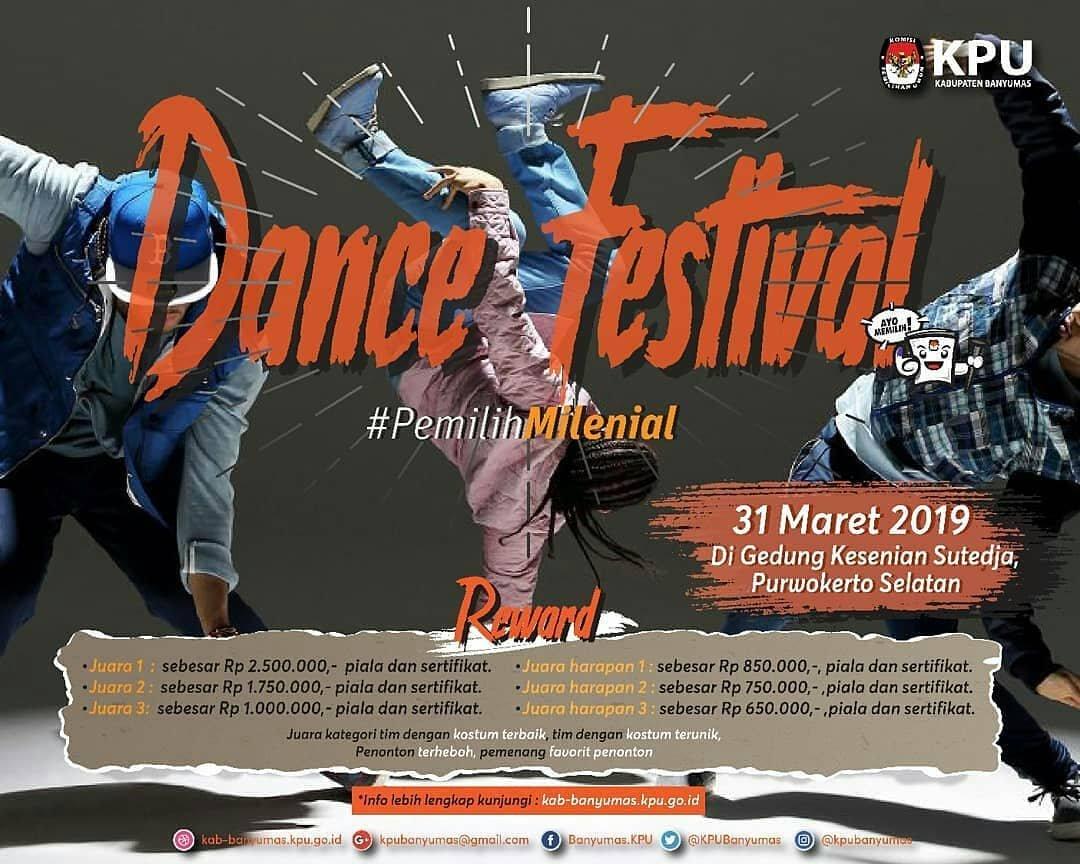 Event Purwokerto - Dance Festival Pemilih Milenial
