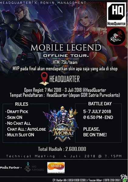 Event Purwokerto-mobile Legend Offline Tour