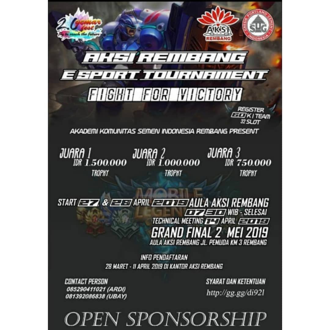 Event Rembang - Aksi Rembang E-sport Tournament Mobile Legends