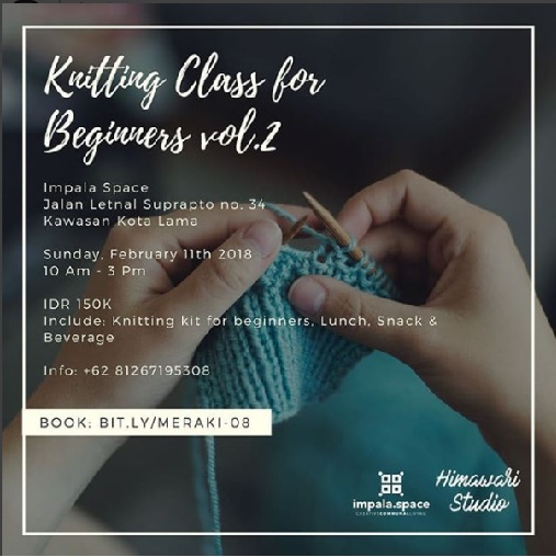 EVENT SEMARANG -  KNITTING CLASS FOR BEGINNERS VOL 2