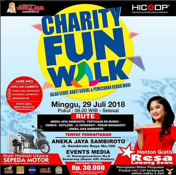 Event Semarang - Charity Fun Walk