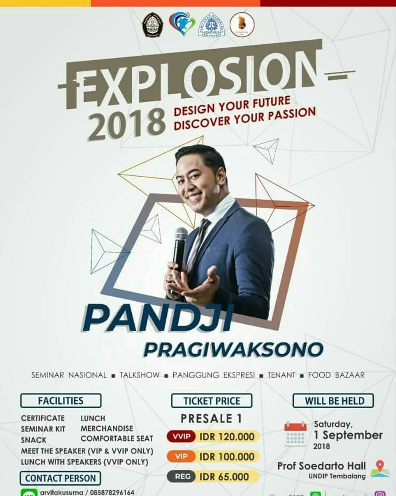 EVENT SEMARANG - EXPLOSION 2018 SPEAKER ANNOUNCEMENT DAN OPEN PRE SALE