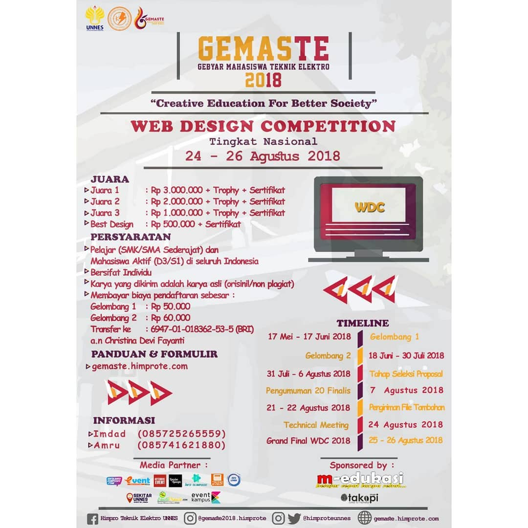 EVENT SEMARANG - GEMASTE WEB DESIGN COMPETITION 2018