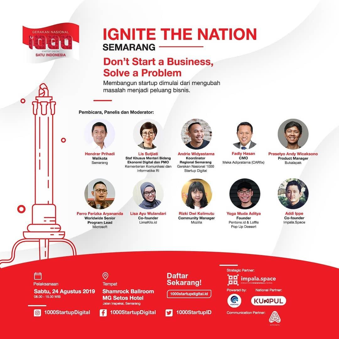 Event Semarang : Gerakan Nasional 1000 Startup Digital