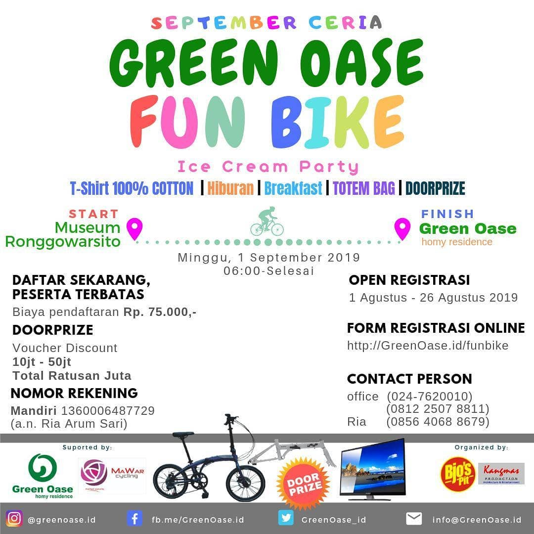 Event Semarang : Green Oase Fun Bike