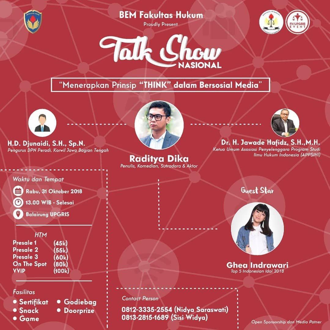 Event Semarang - Menerapkan Prinsip Think Dalam Bersosial Media