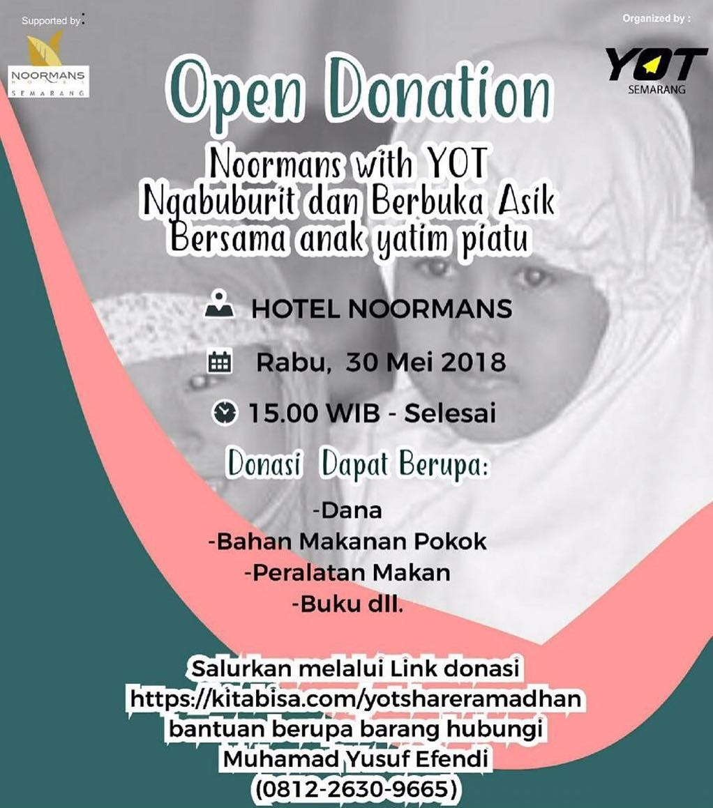 Event Semarang - Open Donation Noormans With Yot