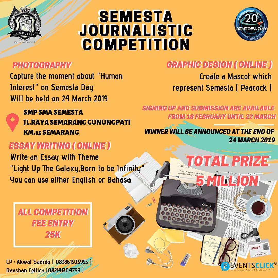 EVENT SEMARANG - SEMESTA JOURNALISTIC COMPETITION