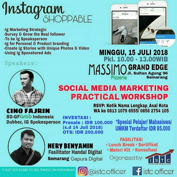 EVENT SEMARANG - SOCIAL MEDIA MARKETING PRACTICAL WORKSHOP