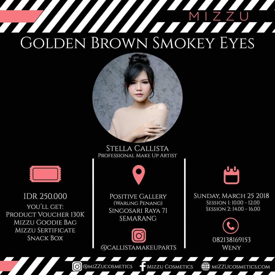 Event Semarang- Golden Brown Smokey Eyes