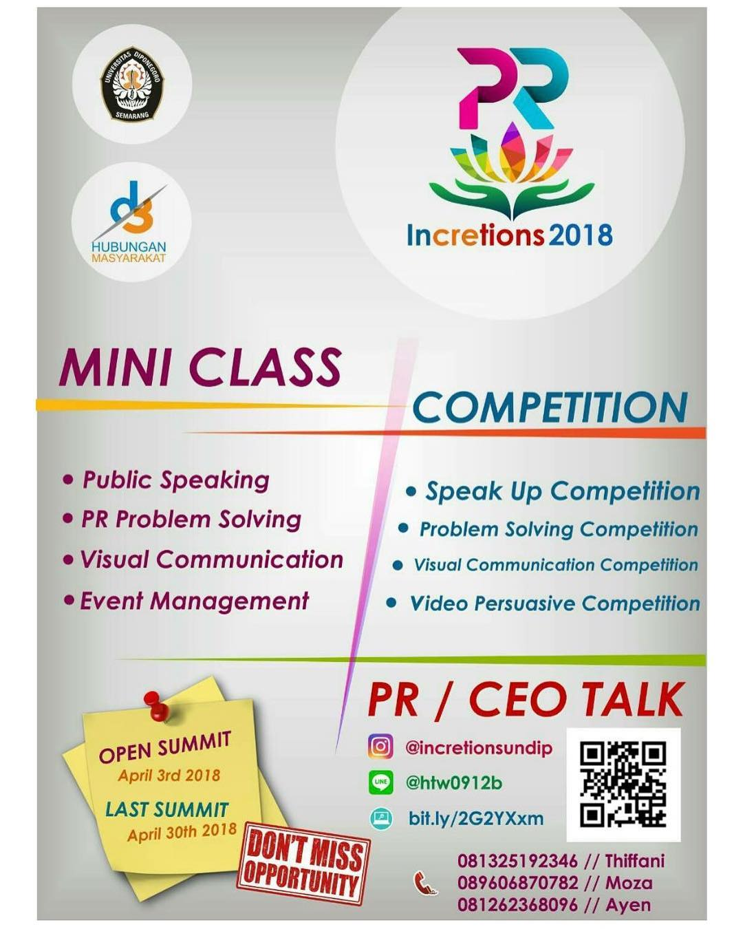 EVENT SEMARANG- INCRETIONS 2018
