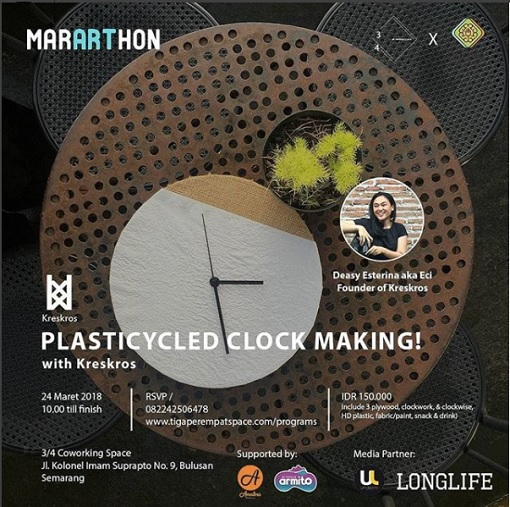 Event Semarang Plasticycled Clock Making!