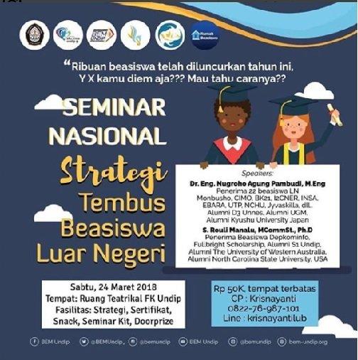 Event Semarang Seminar Beasiswa Luar Negeri