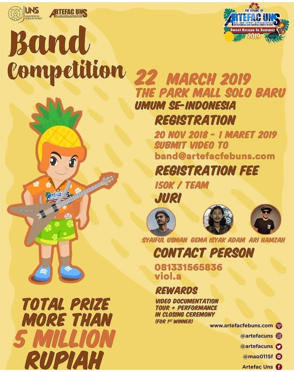 Event Solo - Band Competition Uns