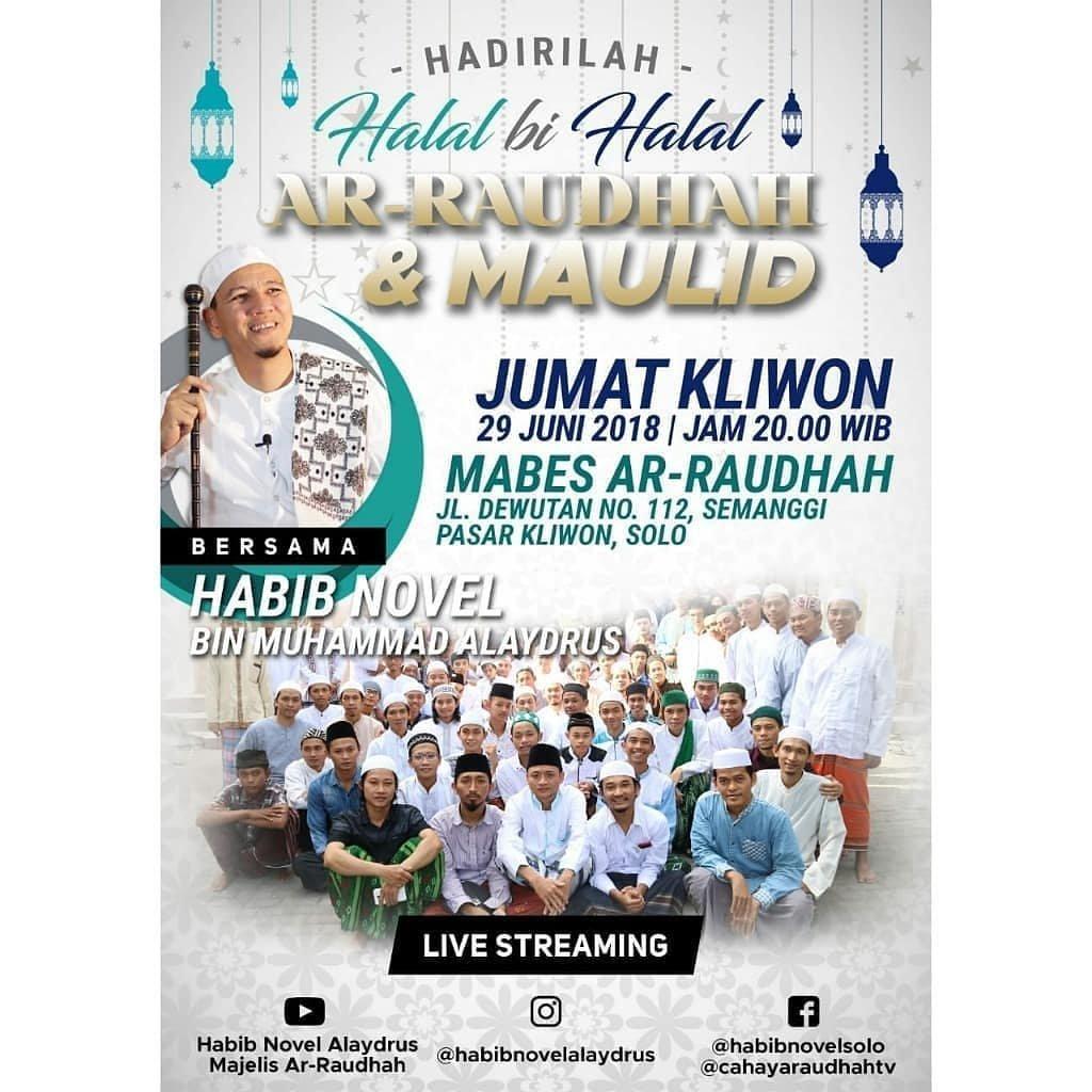 Event Solo - Halal Bi Halal Ar Raudhah & Maulid