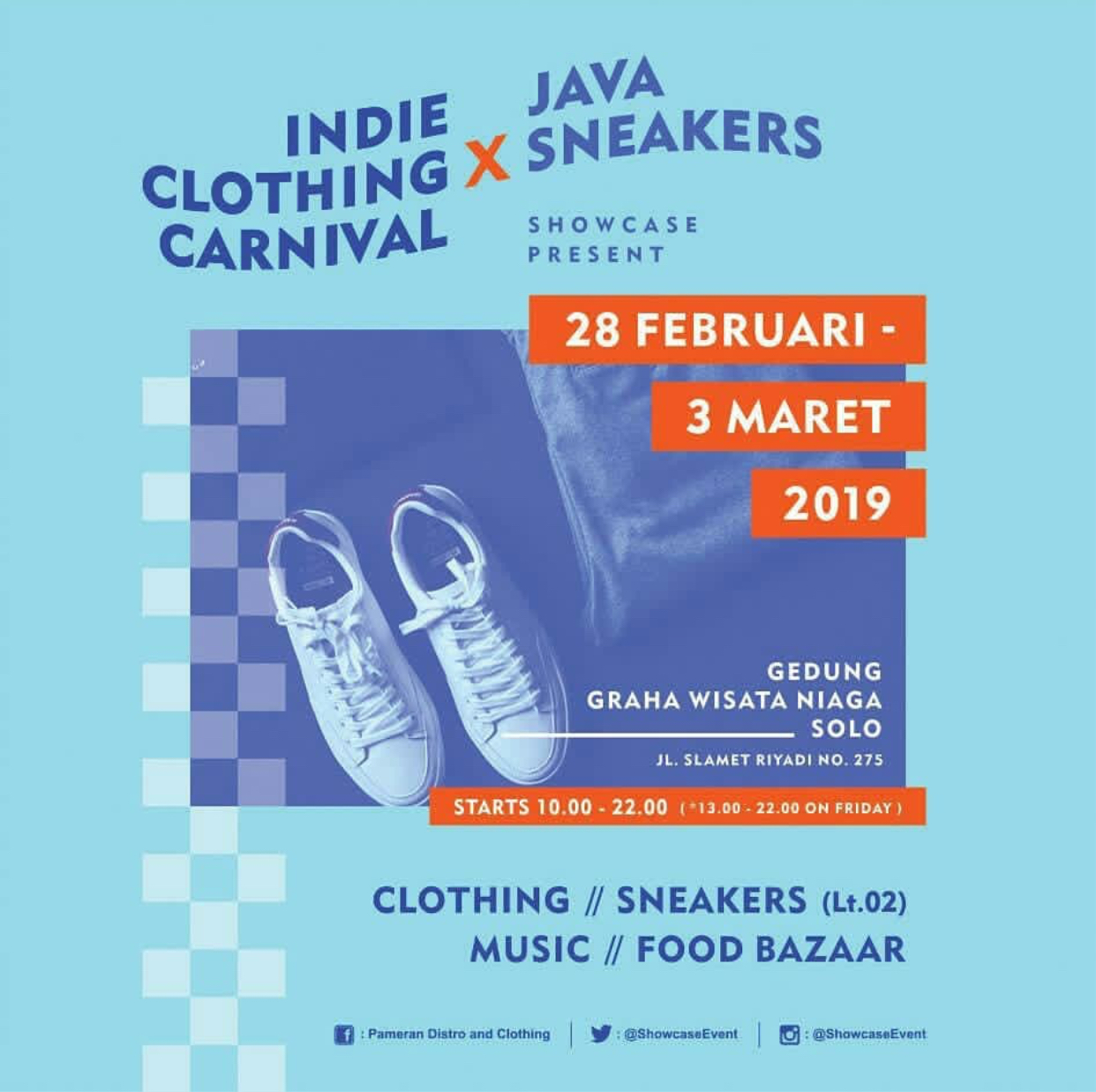 Event Solo - Indie Clothing Carnival X Java Sneakers