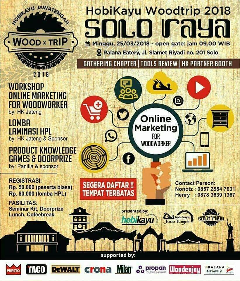 Event Solo-hobikayu Woodtrip 2018