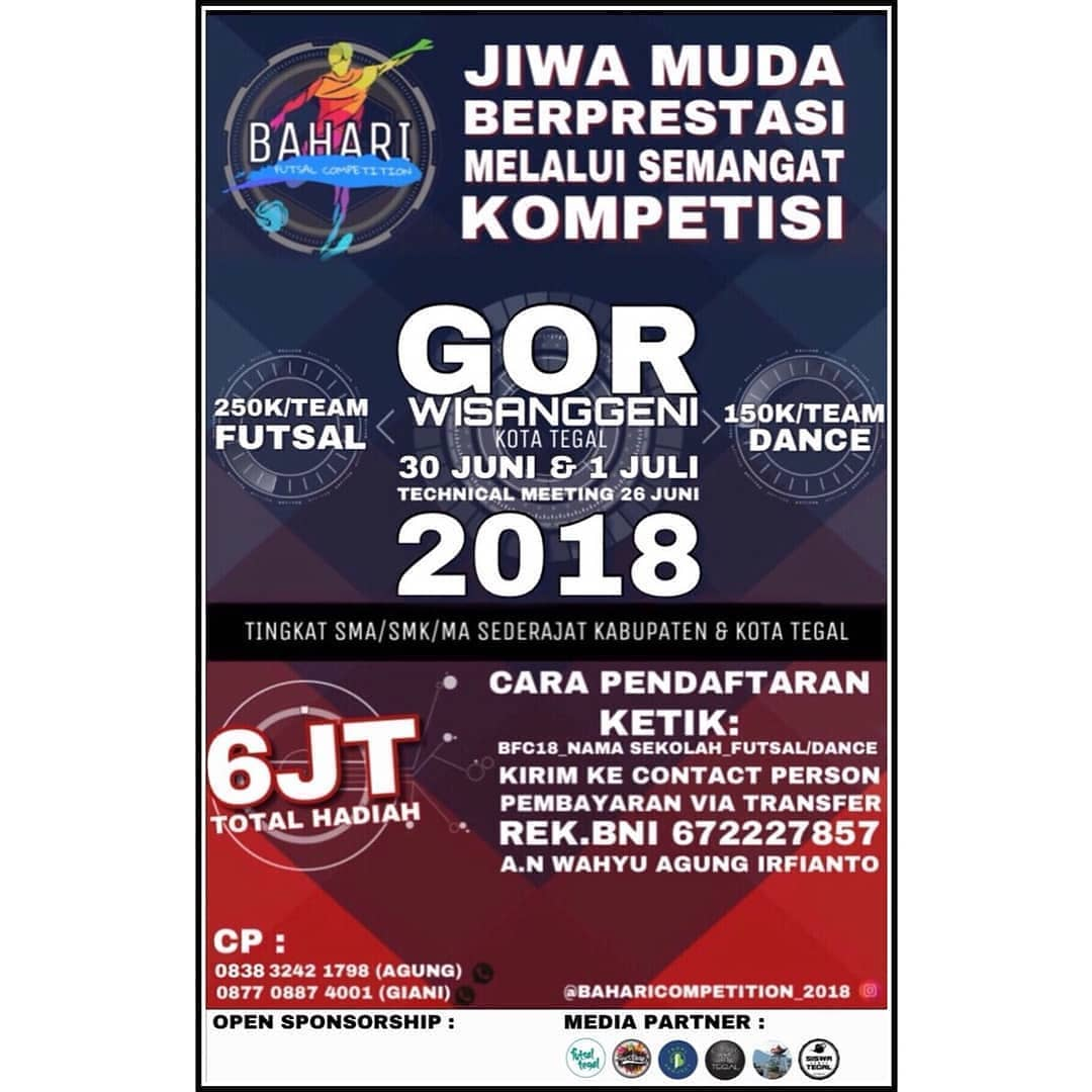 Event Tegal - Bahari Futsal Competition 2018