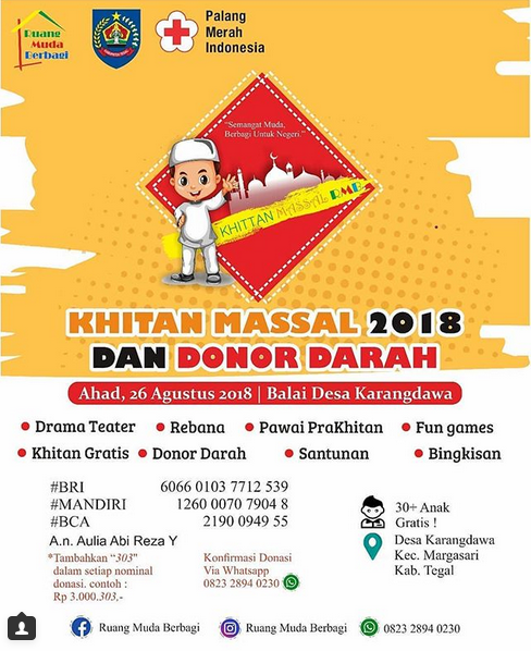 EVENT TEGAL - KHITAN MASSSAL DAN DONOR DARAH