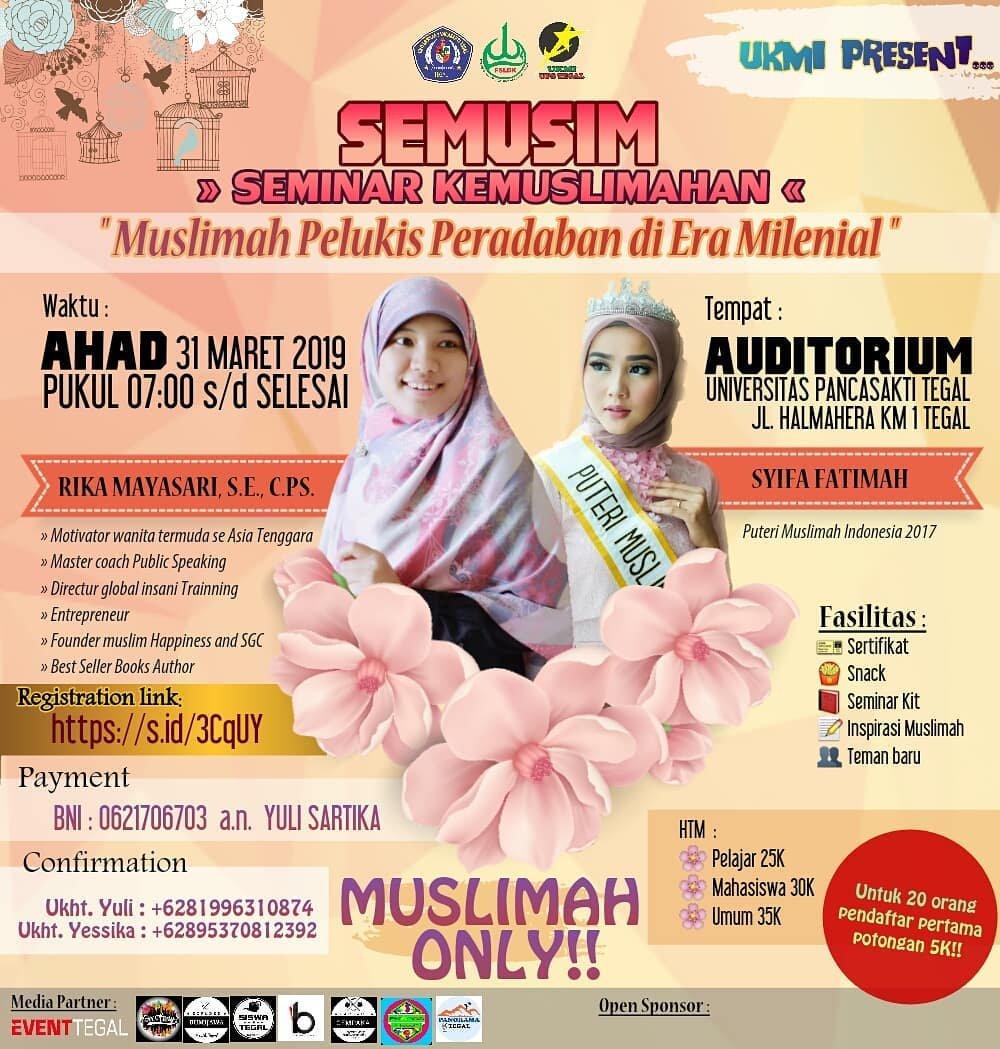 Event Tegal - Semustika (seminar Muslimah Cantik, Kreatif Dan Aktif)