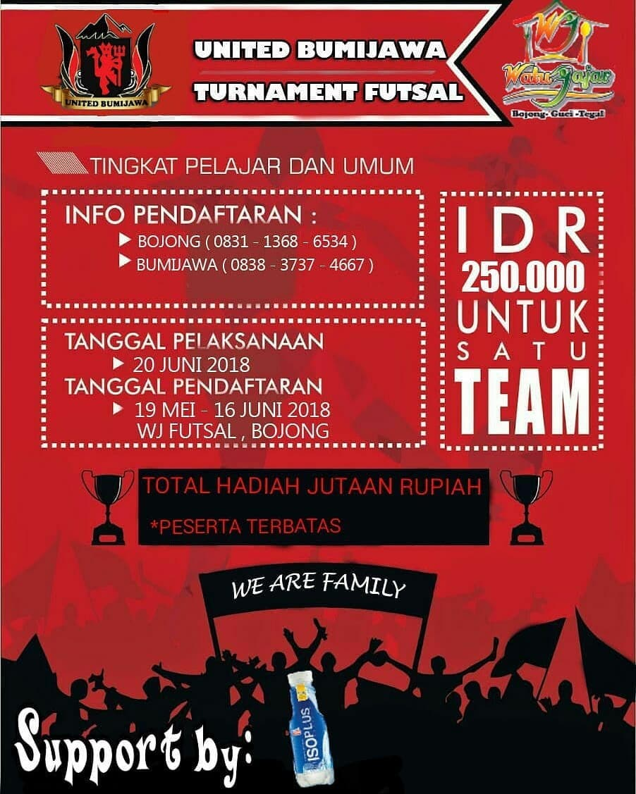 Event Tegal - Turnamen Futsal United Bumijawa