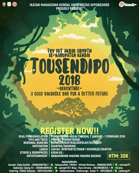Event Tousendipo 2018 Kendal