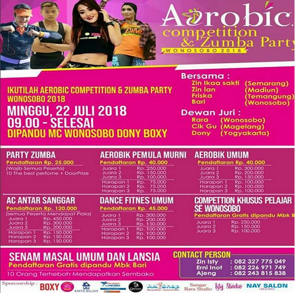 EVENT WONOSOBO - AEROBIC COMPETITION AND ZUMBA PARTY