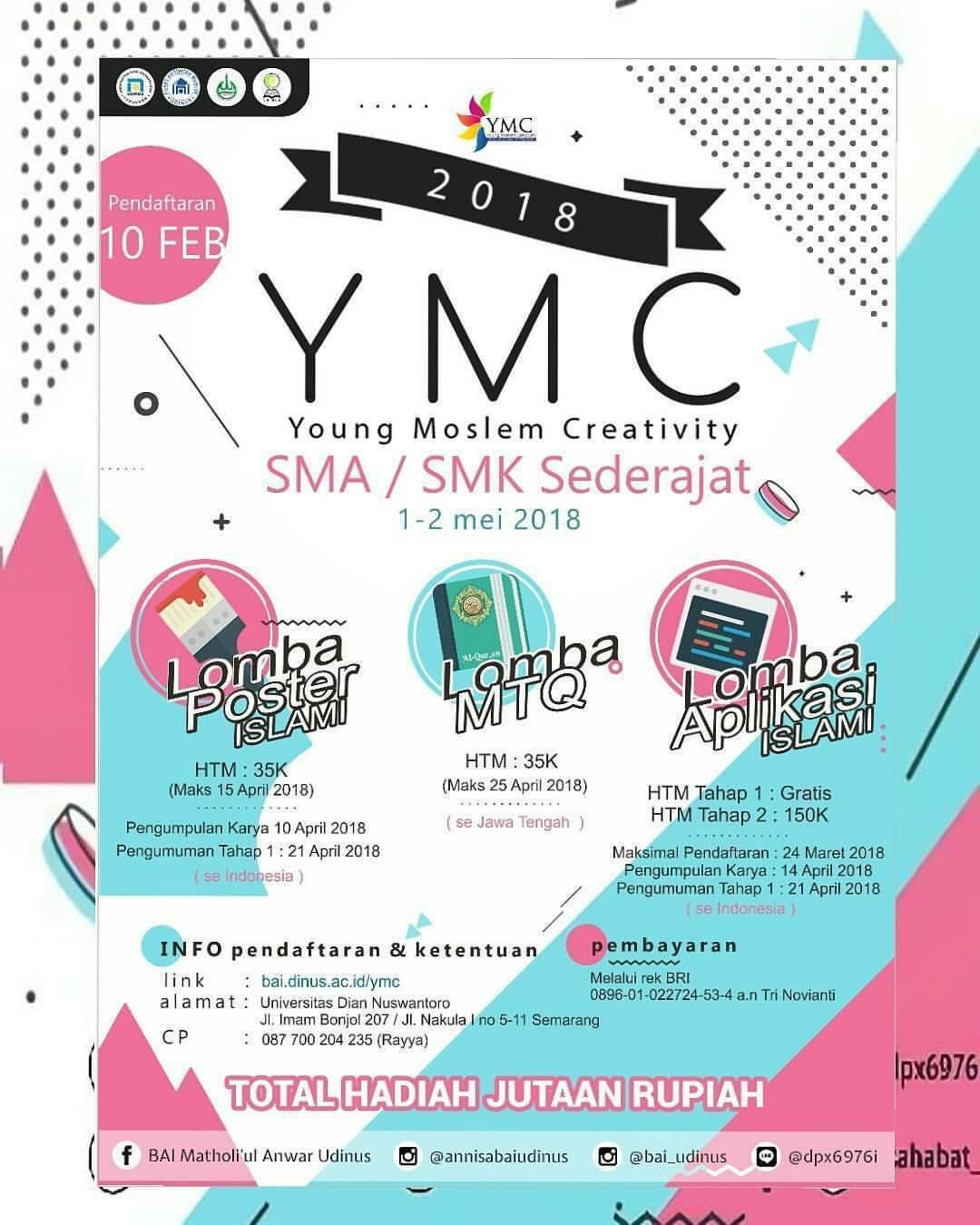 Event Ymc Young Moslem Creativity Di Udinus Semarang