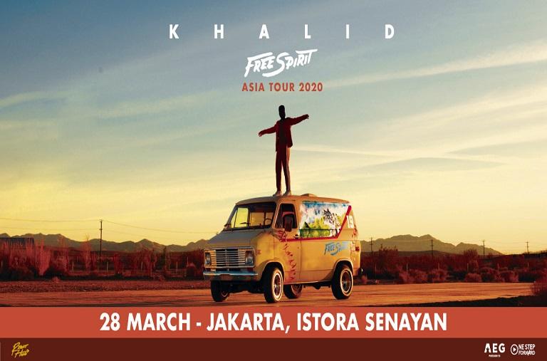 EVENTS JAKARTA : FREE SPIRIT KHALID TOUR JAKARTA 2020