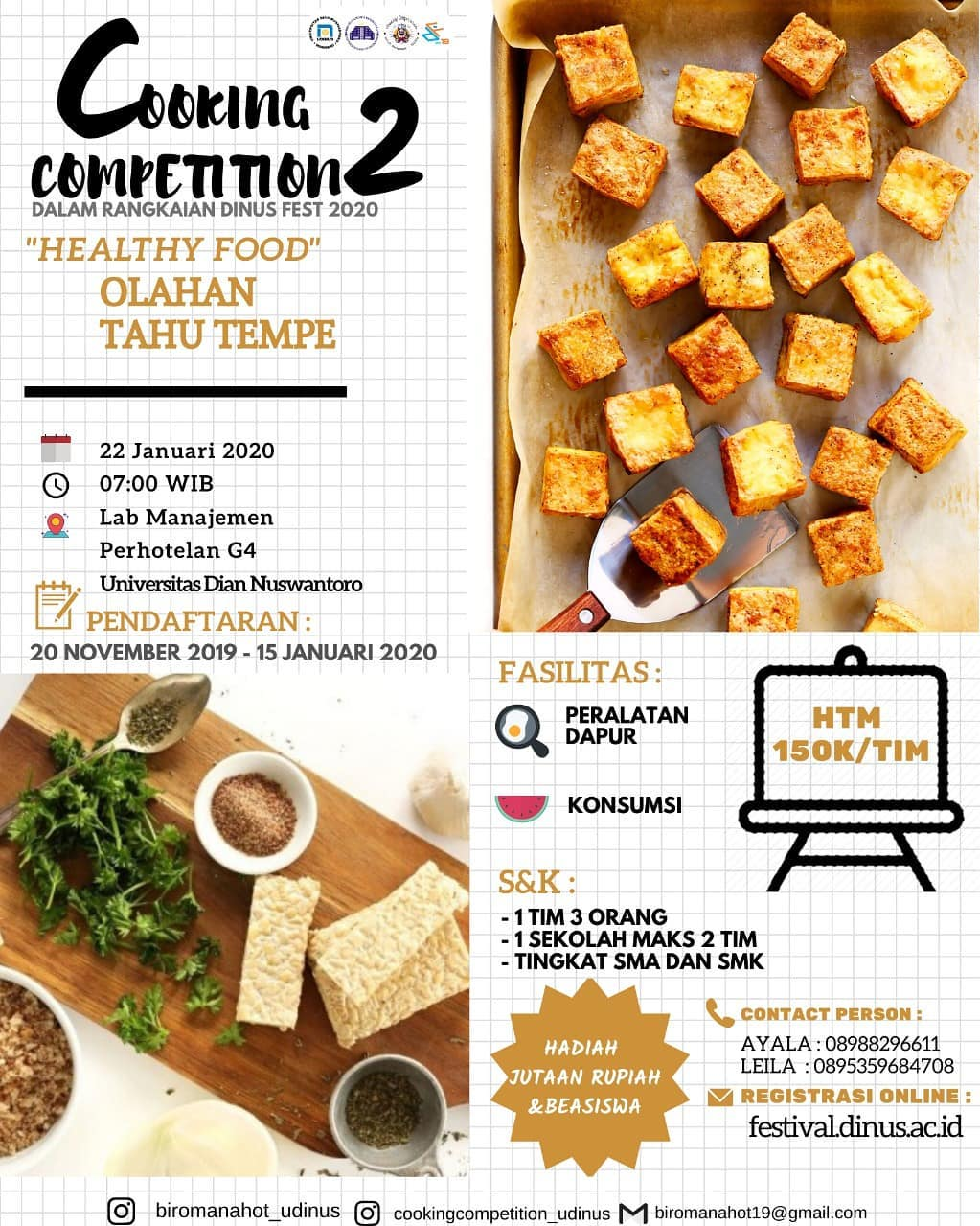 events semaran :  dinus fest 2019 cooking competition 2
