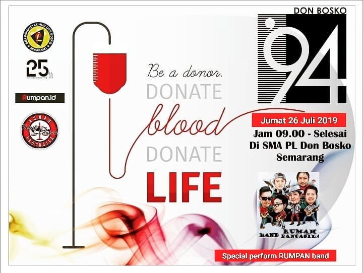 Events Semarang : Don Bosco Blood Donation Day