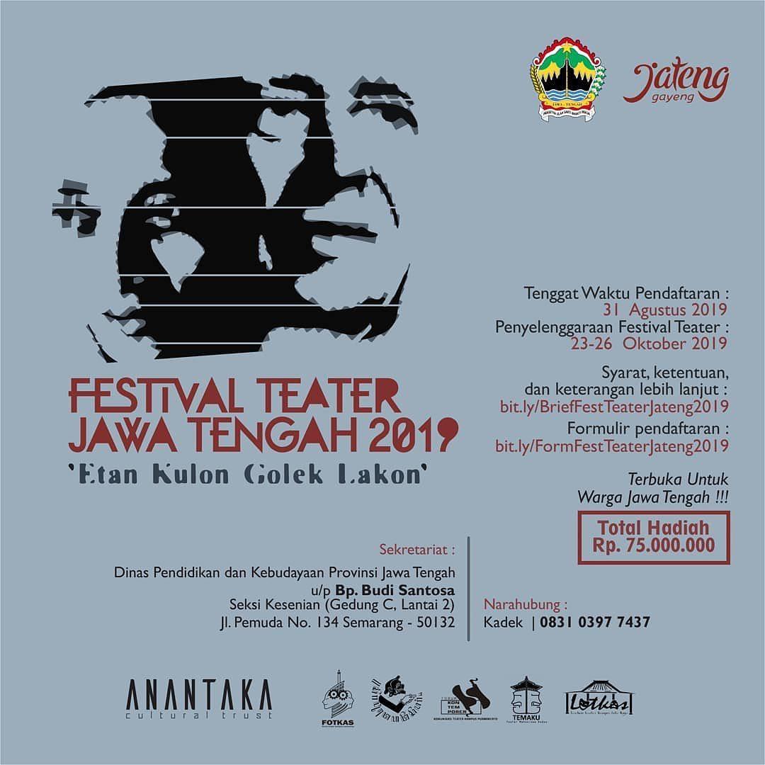 Events Semarang : Festival Teater Jawa Tengah 2019