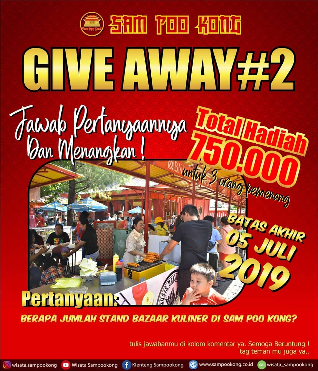 EVENTS SEMARANG : GIVE AWAY SAM POO KONG 2