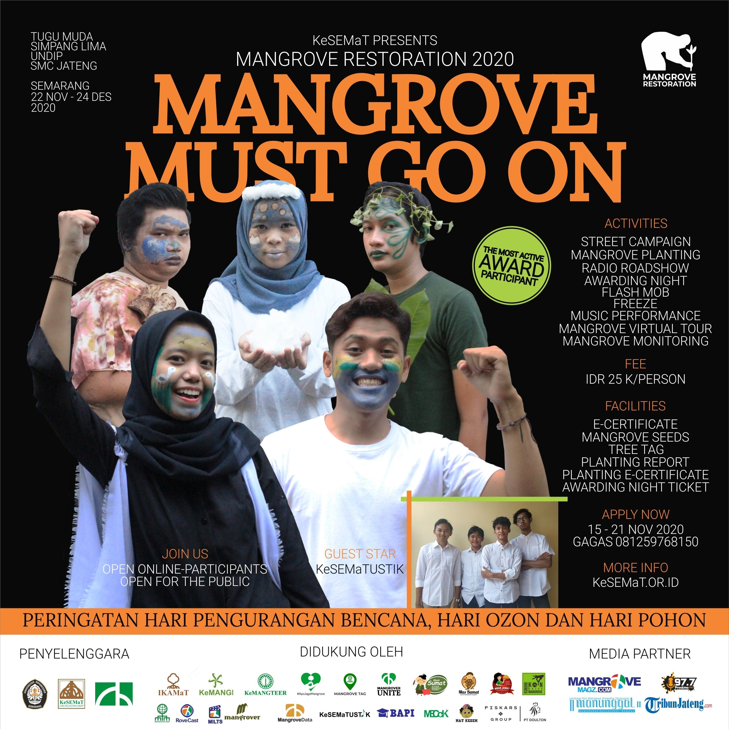events semarang : mangrove restoration 2020: mangrove must go on
