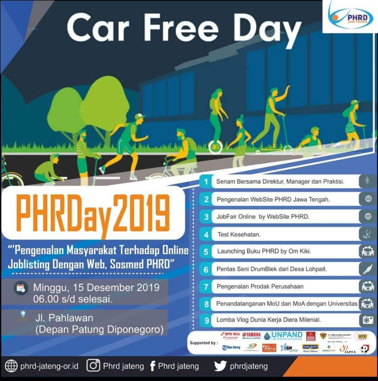 EVENTS SEMARANG : PHRDAY 2019 CAR FREE DAY