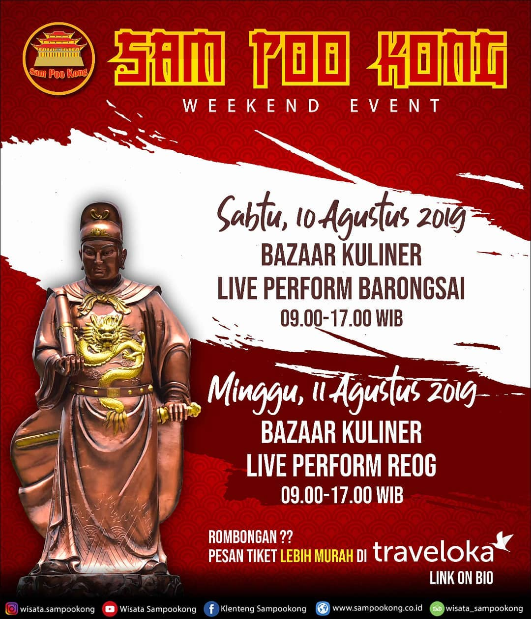 EVENTS SEMARANG : SAM POO KONG WEEKEND EVENT