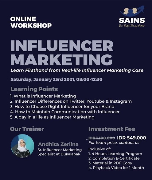 events semarang : workshop influencer marketing