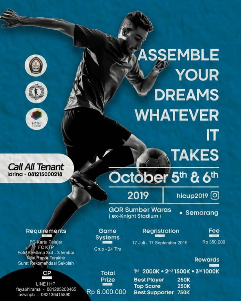 Hmhi Undip  Hi Cup 2019  Assemble Your Dreams,whatever It Takes