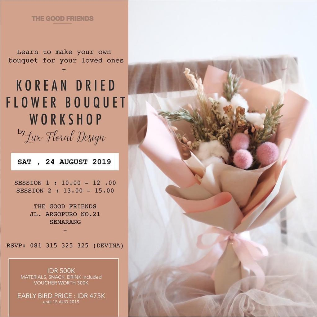 Korean Dried Flower Bouquet Workshop By Lux Floral Design