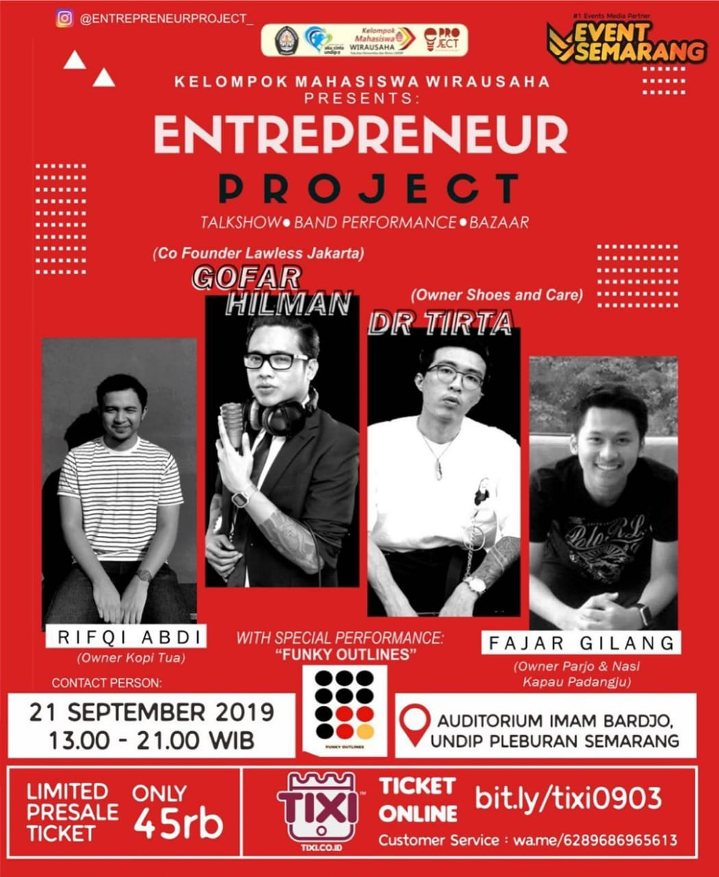 KELOMPOK MAHASISWA WIRAUSAHA PRESENTS ENTREPRENEUR PROJECT